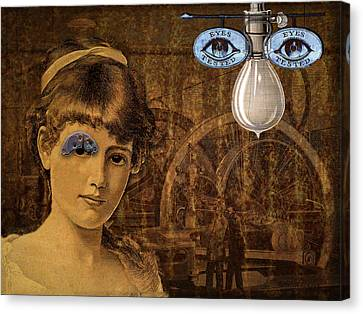 Eye Test Steampunk Canvas Print by Bellesouth Studio