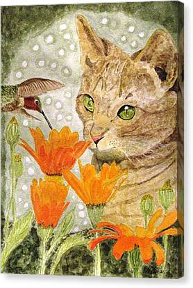 Eye To Eye Canvas Print by Angela Davies