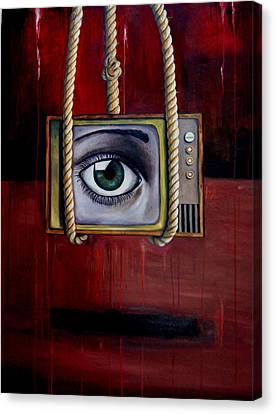 Eye Witness Canvas Print by Leah Saulnier The Painting Maniac