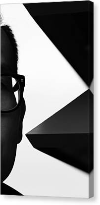 Street Shot Canvas Print - Eyes Edge B by The Artist Project