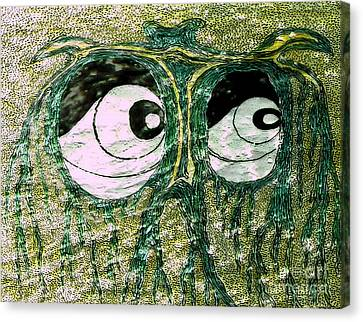 Eyes Green Forest Canvas Print
