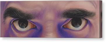 Eyes In The Mirror - Pastel Canvas Print by Ben Kotyuk