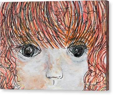 Eyes Of Innocence Canvas Print by Eloise Schneider