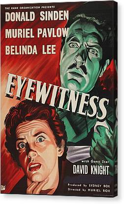 Eyewitness, Us Poster, Donald Sinden Canvas Print by Everett