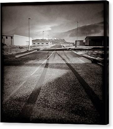 Eyrarbakki Tracks Canvas Print by Dave Bowman