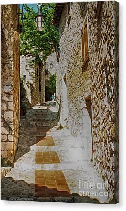 South Of France Canvas Print - Eze Secret Street by Kate McKenna