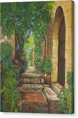 Eze Village Canvas Print