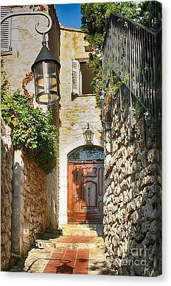 South Of France Canvas Print - Eze Welcome Door by Kate McKenna