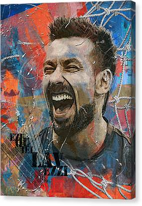Ezequiel Lavezzi - B Canvas Print by Corporate Art Task Force