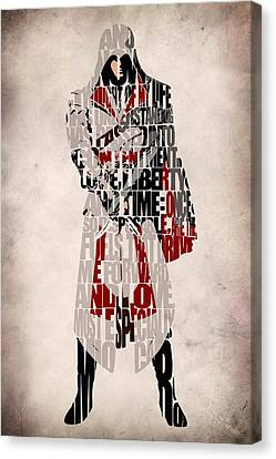Ezio - Assassin's Creed Brotherhood Canvas Print by Ayse Deniz