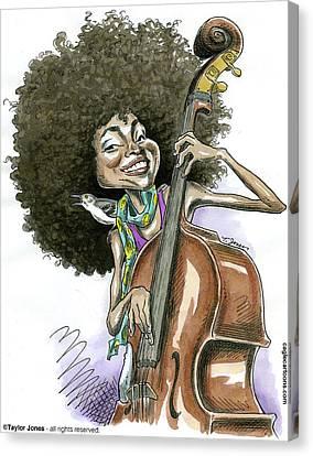 Grammy Winners Canvas Print - Ezperanza Spalding by Taylor Jones