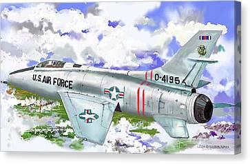 F-100 D Super Sabre Canvas Print