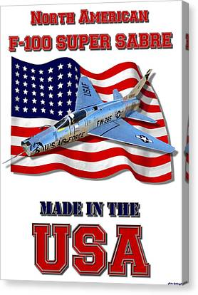 F-100 Super Sabre Made In The Usa Canvas Print