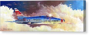 F-100d Super Sabre Canvas Print
