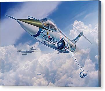 Lockheed Aircraft Canvas Print - F-104c Starfighter by Stu Shepherd