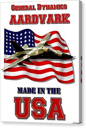 F-111 Aardvark Made In The Usa Canvas Print