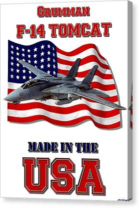 F-14 Tomcat Made In The Usa Canvas Print