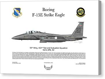 F-15e Strike Eagle 442d Tes Canvas Print by Arthur Eggers