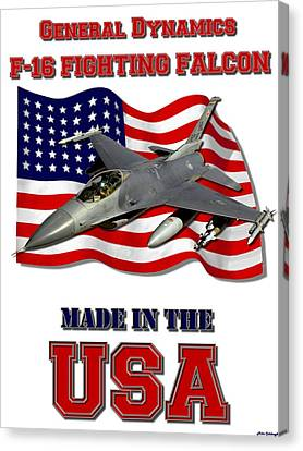 F-16 Fighting Falcon Made In The Usa  Canvas Print