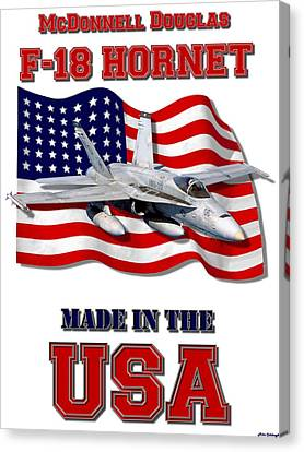 F-18 Hornet Made In The Usa Canvas Print