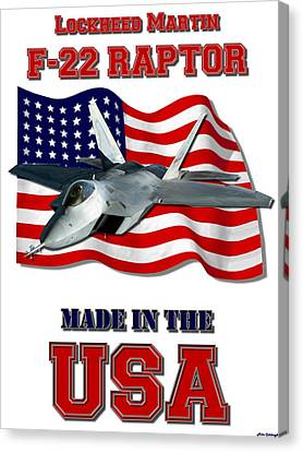 F-22 Raptor Made In The Usa Canvas Print