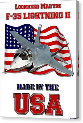 F-35 Lightning II Made In The Usa Canvas Print