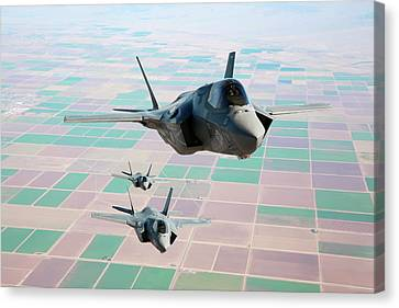 F-35b Fighter Jets Canvas Print by Us Defense
