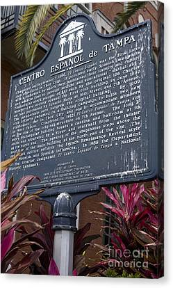 The Interests Of Society Canvas Print - F-383 Centro Espanol De Tampa by Jason O Watson