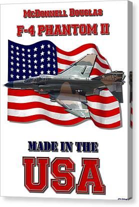 F-4 Phantom Usaf Made In The Usa Canvas Print