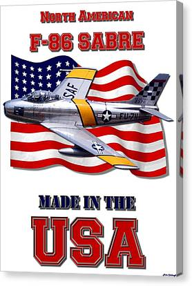 F-86 Sabre Made In The Usa Canvas Print