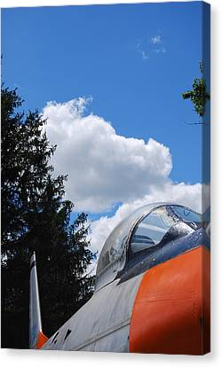 Canvas Print featuring the photograph F-860 Saber Jet Interception by Ramona Whiteaker