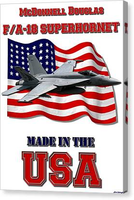 F/a-18 Superhornet Made In The Usa Canvas Print