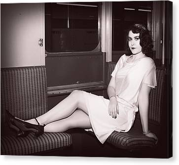 F Line Is For Flappers Canvas Print