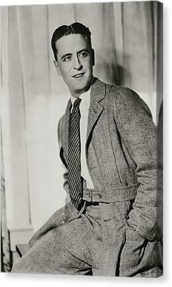 F Scott Fitzgerald Wearing A Norfolk-style Jacket Canvas Print by Artist Unknown