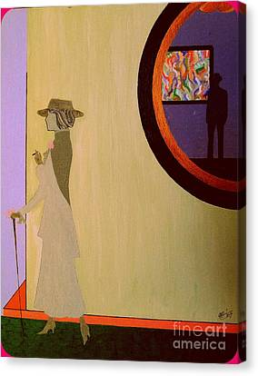 Canvas Print featuring the painting F Scott Waiting For Zelda by Bill OConnor