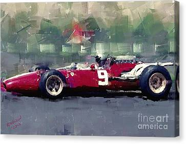 F1 Ferrari - Surtees Canvas Print by Arne Hansen
