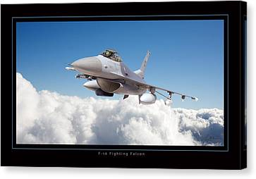 F16 Fighting Falcon Canvas Print by Larry McManus