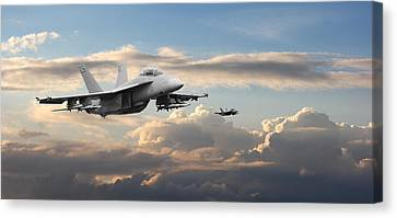 F18 - Super Hornet Canvas Print by Pat Speirs