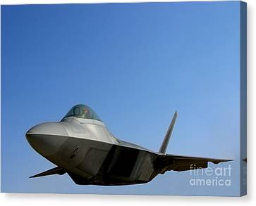 F22 Raptor  Canvas Print by Olivier Le Queinec