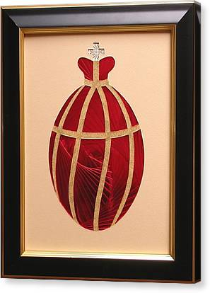 Canvas Print featuring the mixed media Faberge Egg 2 by Ron Davidson