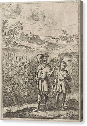 Fable Of The Lark And Her Boy, Print Maker Dirk Stoop Canvas Print