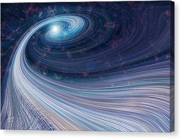 Fabric Of Space Canvas Print by Fran Riley