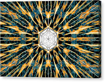 Canvas Print featuring the drawing Fabric Of The Universe by Derek Gedney