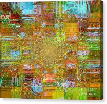 Fabric Three Canvas Print by Fania Simon
