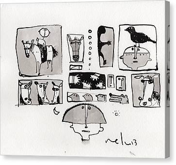 Fabula No. 1  Canvas Print by Mark M  Mellon