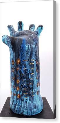 Fabulas Blue Hand  Canvas Print by Mark M  Mellon