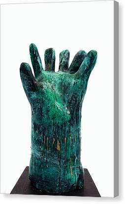 Fabulas Malachite Hand Canvas Print by Mark M  Mellon