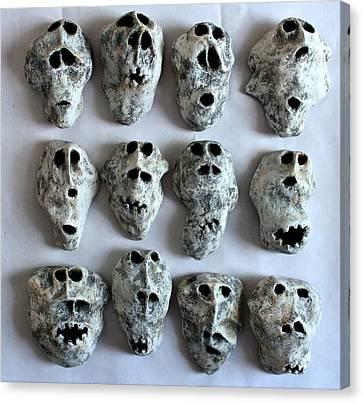 Fabulas Wall Of Skulls  Canvas Print