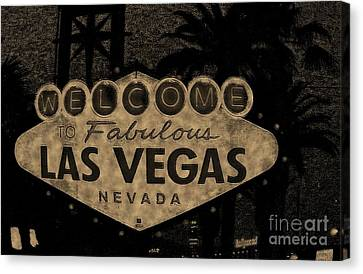Fabulost Vegas Spelling Correct Canvas Print by John Malone