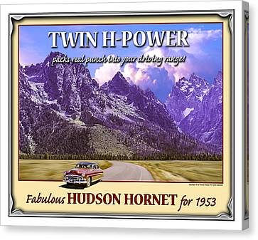 Canvas Print featuring the photograph Fabulous Hudson Hornet For 1953 by Ed Dooley